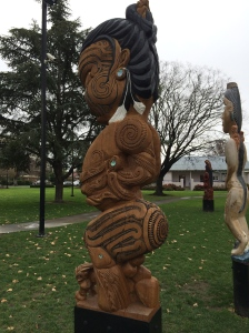 Right outside the Hastings library. A whole garden full of contemporary Maori interpretations of Maori prototypes.